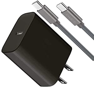 Boxgear USB C Fast Charger-18W PD Wall Charger with 6.6 ft Type C Cable-Boxgear Fast Charging for Samsung Galaxy S20/S10 5G /Note 10/Note 10 Plus/Note 20/S9 S8/S10e,iPad Pro 12.9/11, Black