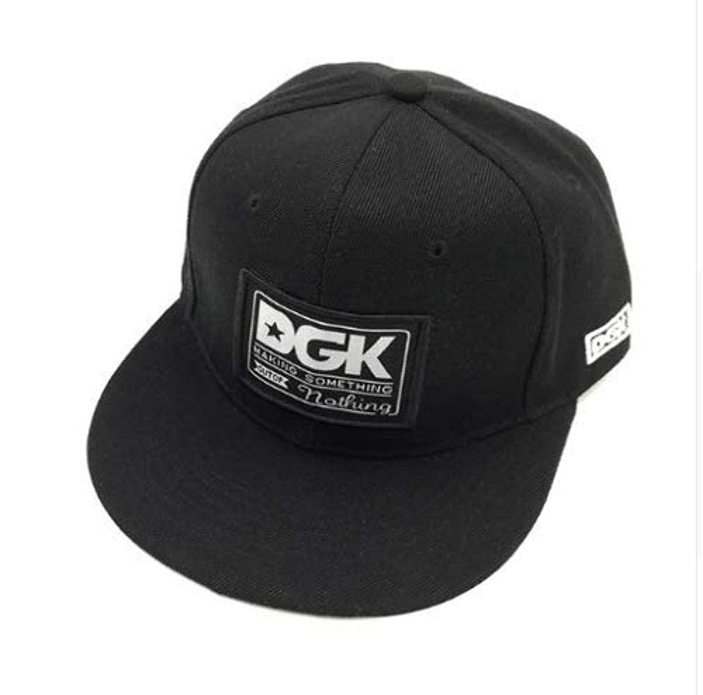 Acccity DGK Snapback Caps Flat Hip Hop Baseball Cap Casquette Gorras Hat Adult (Black) at Amazon Mens Clothing store: