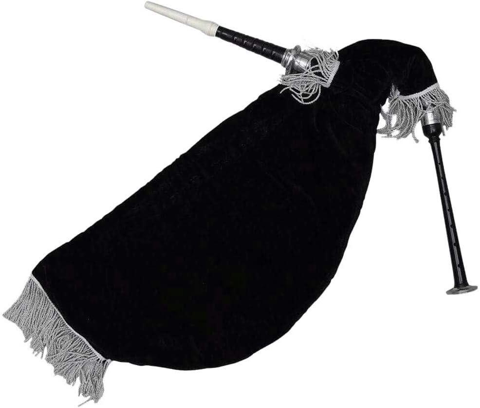 Marca nueva Escocia gaita de ganso negro Color plata Mounts bolsa de terciopelo negro: Amazon.es: Instrumentos musicales