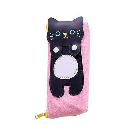 STOBOK Estuche de lápices lindo para gatos Kawaii Animal ...