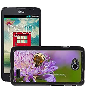 Hot Style Cell Phone PC Hard Case Cover // M00108471 Brush Beetle Beetle Flower Close // LG Optimus L70 MS323