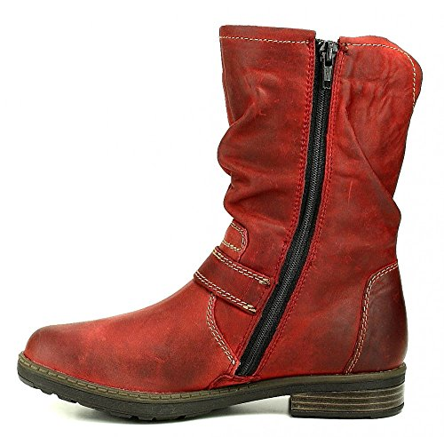 Vado Ina Stiefel red rot Tex Mädchen antik Dk. Red