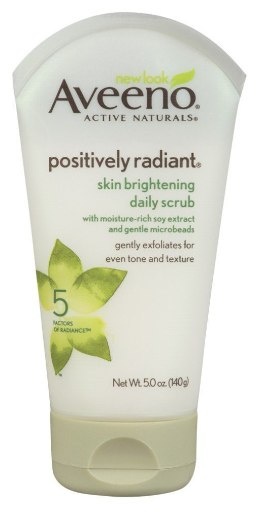Aveeno Positively Radiant Brightening Daily Scrub 5 Ounce (145ml) (2 Pack)