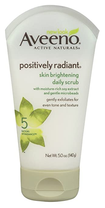 Aveeno Positively Radiant Brightening Daily Scrub 5 Ounce (145ml) (3 Pack) by Aveeno