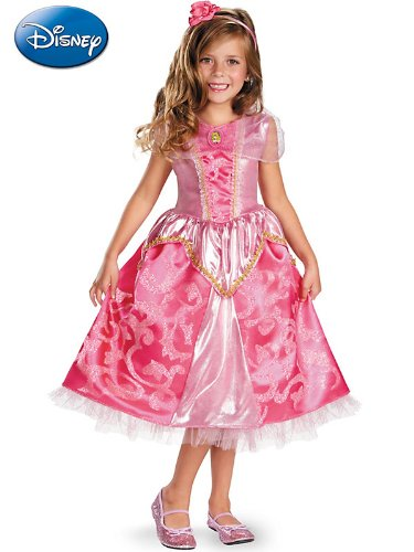 Disguise Disneys Sleeping Beauty Aurora Sparkle Deluxe Girls Costume