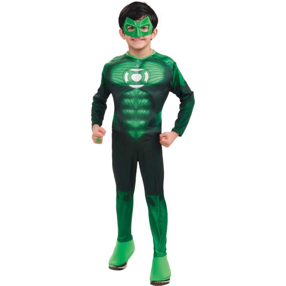 Boy's Deluxe Muscle Green Lantern Hal Jordan Costume