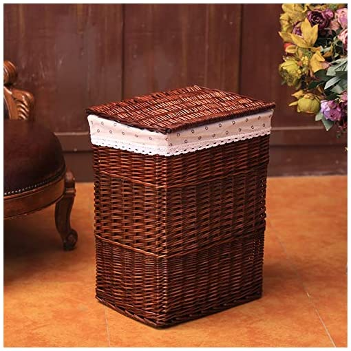 Wicker Hampers With Lids