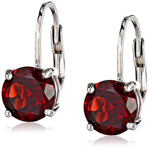 garnet-leverback-earrings-in-sterling-silver-7mm