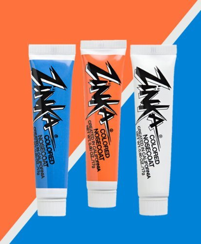 Zinka Team Face Paint And Sun Block - Miami - Orange/Blue/White ()
