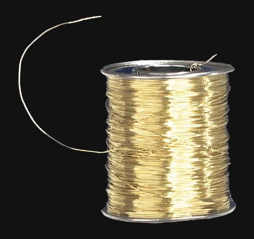 (B&P Lamp 50 Ft. 24 Ga. Brass Wire For Pinning)