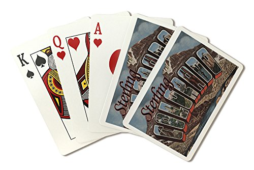 Sterling, Colorado - Large Letter Scenes (Playing Card Deck - 52 Card Poker Size with Jokers)