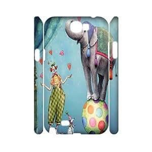 DIY Samsung Galaxy Note 2 N7100 Case, Zyoux Custom Cheap 3D Samsung Galaxy Note 2 N7100 Cell Phone Case - Clown