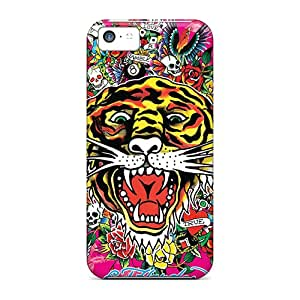 Scratch Resistant Cell-phone Hard Covers For Iphone 5c With Support Your Personal Customized Stylish Ed Hardy Tiger Series DrawsBriscoe