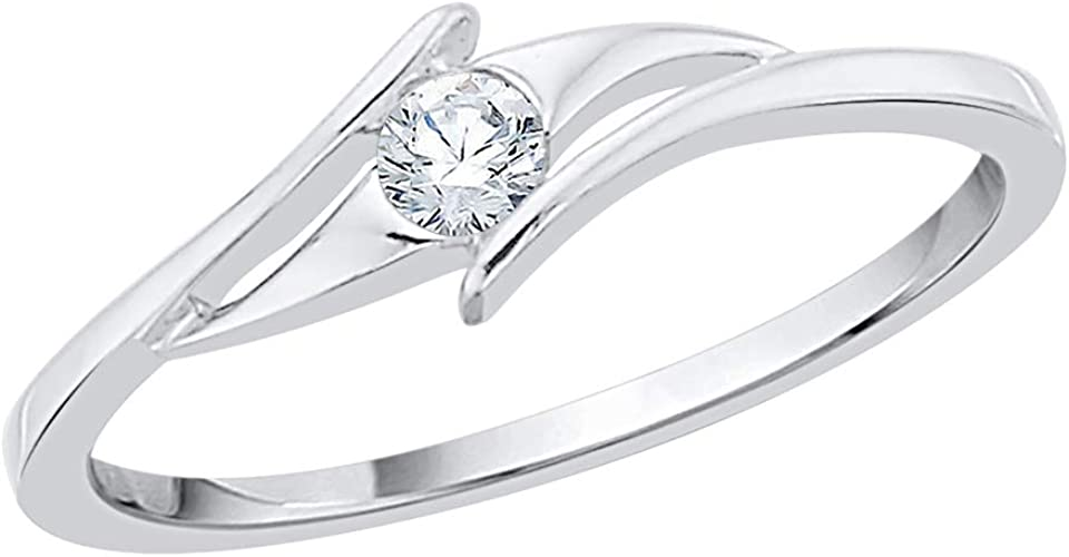 Size-9.75 Diamond Wedding Band in Sterling Silver G-H,I2-I3 1//10 cttw,
