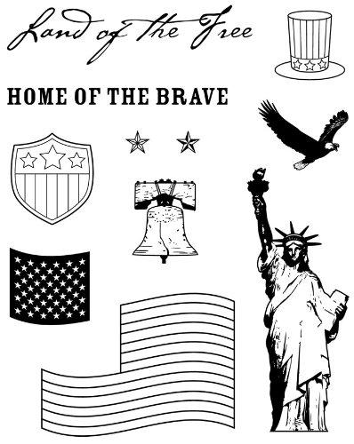 Karen Foster Design, Clear Stamp Set, Patriotic