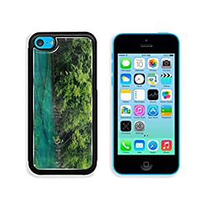 Wilderness Beautiful Surface Reflection Green Forest Blue Lake Mountains Nature Punktail's Collections Apple iPhone 5c Cover Premium Aluminum Design TPU Case Open Ports Customized Made to Order