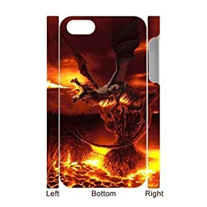 3D Bumper Plastic Case Of Dragon customized case For Iphone 4/4s