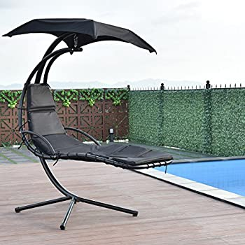 Amazon Com Sunnydaze Floating Chaise Lounger Swing Chair