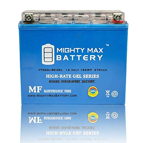 Mighty Max Battery YTX20L-BS Gel 12V 18AH Battery Ski-Doo 600 Tundra MX Z, GSX, GTX 04-12 Brand Product