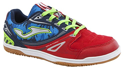 Joma Sala Max Jr, Zapatos de Futsal Unisex Niños Azul (Blue-red)