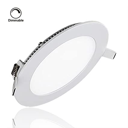 Su0026Gu0026reg; LED Recessed Lights Dimmable, Round Ceiling Light Fixture,  Ultrathin Bathroom Ceiling Lights