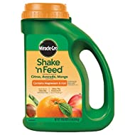 Miracle-Gro Shake 'n Feed Continuous Release: Citrus, Avocado, Mango Plant Food, 4.5 lbs