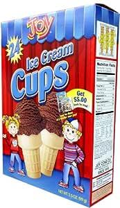 Joy Cone 24-Count ICE CREAM CUPS 3.5oz (2 Pack)
