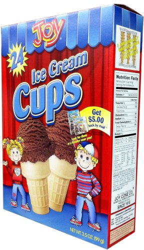 Joy Cone 24-Count ICE CREAM CUPS 3.5oz (2 Pack) ()