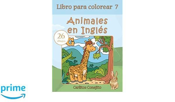 Libro Para Colorear Animales En Inglés 26 Dibujos Volume 7 Amazon
