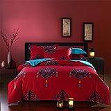 Newrara Bohemian Bedding Boho Comforter Set Queen Size 5pieces (4)