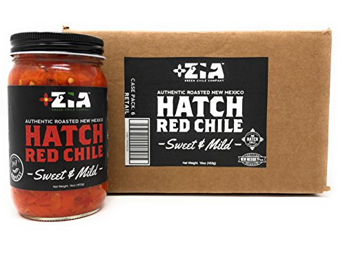 Pepper Salsa Roasted Desert (Original New Mexico Hatch Red Chile By Zia Green Chile Company - Delicious Flame-Roasted, Peeled & Diced Southwestern Certified Red Peppers For Salsas, Stews & More, Vegan & Gluten-Free - 6 Pack)