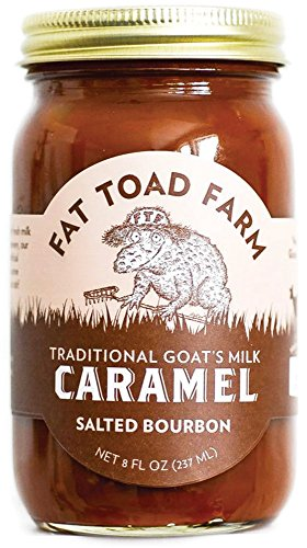 Fat Toad Farm Traditional Goat's Milk Caramel Sauce, Salted Bourbon, 8fl oz Jar, Cajeta, Gluten Free made in New England