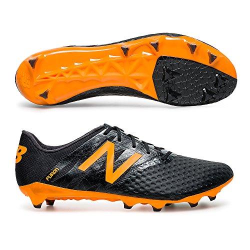 NEW BALANCE Furon Pro FG–Scarpe da calcio da uomo, nero / arancione, 9 US - 42.5 EU