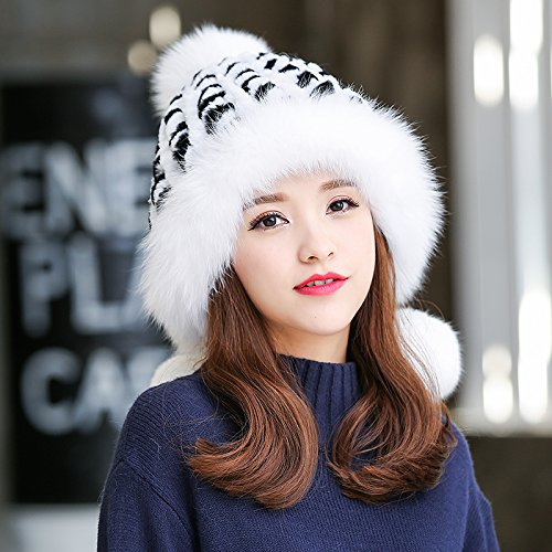 Wuyulunbi@ Autumn and winter warm winter hat girl ear thick hat,D For Christmas Present