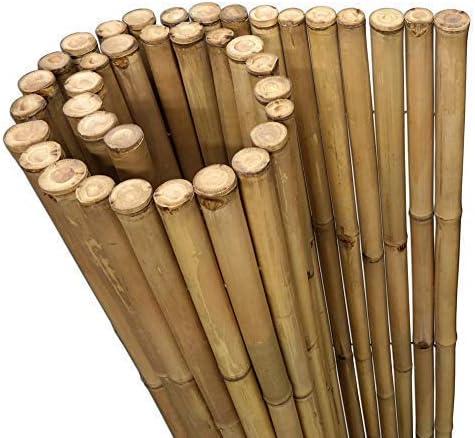 DE-COmmerce Extremo Estable Madera Bambú Valla Ocultación Valla XL Paravientos con Sim y Selladas Bambusrohren - Nature, 180 x 150 cm: Amazon.es: Jardín