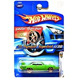 Hot Wheels 2006 First Editions Faster Than Ever 1970 Plymouth Superbird Green