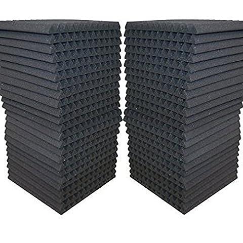 FoamEngineering Acoustic Panels Studio Soundproofing Foam Wedge Tiles, 12 X 12-Inches, 48 Pack (Wedge Foam Acoustic)