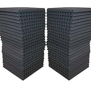 FoamEngineering Acoustic Panels Studio Soundproofing Foam Wedge Tiles, 12 X 12-Inches, 48 Pack