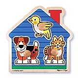 Melissa & Doug Pets House Pets Large Wooden Peg Puzzle