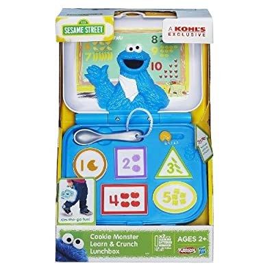 1 X Playskool Sesame Street Cookie Monster Learn & Crunch Lunchbox by Hasbro: Toys & Games
