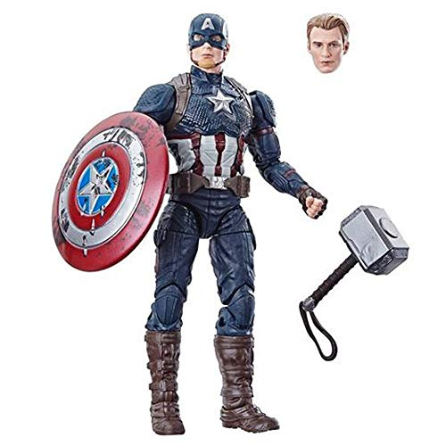 Marvel Legends Worthy Captain America Power and Glory Exclusive with Mjolnir Hammer
