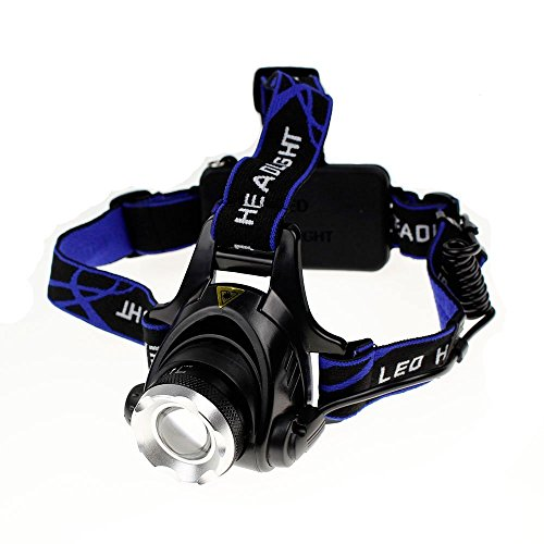 AOLIKES Zoomable 5,000 Lux Super-bright LED Headlamp Powered by 3x AAA /18650 or (A02 Headlamp)