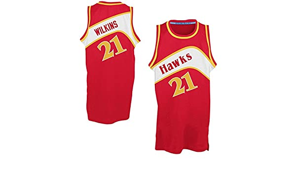on sale b07f5 afe89 promo code for amazon mens dominique wilkins 21 hardwood classics jersey  basketball jersey sports outdoors 0ad03