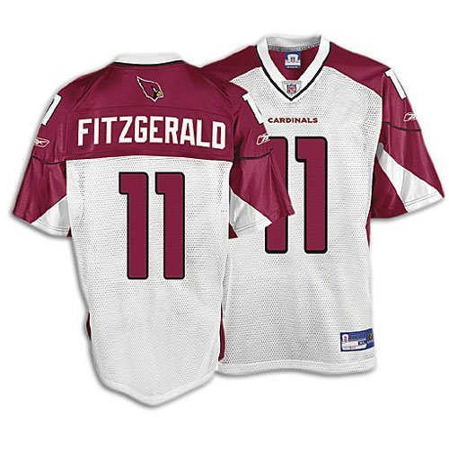 Amazon.com   Reebok NFL Equipment Arizona Cardinals  11 Larry Fitzgerald  Youth White Replica Football Jersey   Sports Fan Football Jerseys   Clothing b27008d1c