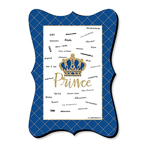 Royal Prince Charming - Unique Alternative Guest Book - Baby Shower or Birthday Party Signature Mat ()