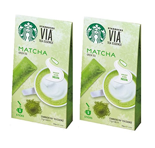Starbucks Japan VIA Tea Essence MATCHA Green tea Stick Type 17g 5-Sticks ( set of 2 ) by Starbucks