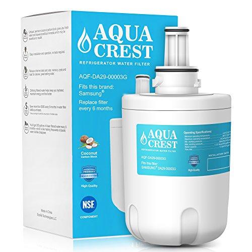 AquaCrest DA29-00003G Refrigerator Water Filter Replacement Samsung DA29-00003G, DA29-00003B, DA29-00003A, Aqua-Sterile Plus, HAFCU1 Water Filter