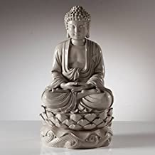 "Torre & Tagus 902279B Peaceful Buddha Resin Decor 16"" Statue - Grey"