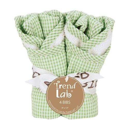 Trend Lab Kids Baby Infant Bouquet 4 Pack Bib - Gingham Seersucker Sage Toys Christmas ()