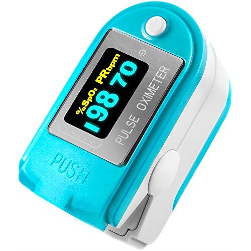 FaceLake FL-50B Fingertip Pulse Oximeter & Pedometer with Bluetooth & Carry Case